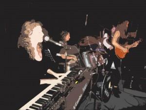Band SWIM performance art 2013
